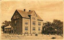 Denmark Hjorring Hjørring - Privat Pigeskole Private School 1929 sepia postcard
