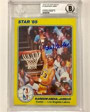 KAREEM ABDUL-JABBAR Signed 1984-85 STAR Lakers 5x7 card ~Beckett BAS BGS 10 Auto