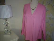 M&S Rosa Mangas Largas Suelta Fit Blusa Prenda para el torso Talla 12 Damas BNWT RP £ 25 Precioso **