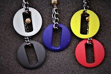 Resin Acrylic Stud Round Chain Earrings Hypoallergenic Stud Choice of 4 colours