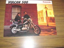 New listing 1992 Kawasaki Vulcan 500, Nos Sales Brochure 2 Pages.Text in English