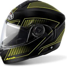 CASCO HELMET MODULARE RIDES LAND YELLOW MATT AIROH TG XL