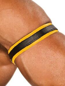 Colt Studios Leather Bicep Strap Biceps Band Yellow Colt Studio Group Mens