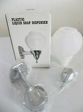 VINTAGE SERVICE STATION GLOBE SOAP DISPENSER CHROME WALL MOUNT NIB - TAIWAN