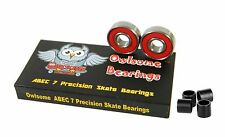 Owlsome ABEC 7 Precision Skateboard Longboard Bearings w/ 4 Spacers