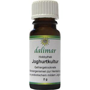 Dalimar Joghurtkultur 2 g - Joghurtkulturen Hobbythek Joghurtmaker probiotisch