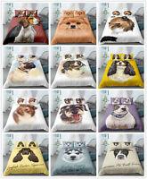 3D Animals Pet Dog Bedding Set Duvet Cover for Comforter Pillowcase Quilt Cover