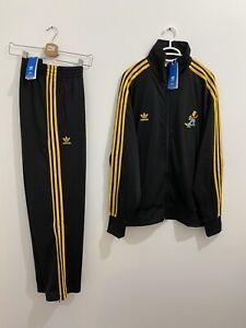 Adidas x The Simpsons Firebird Tracksuit Black Yellow Size L