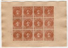 CHILE 1853 First Issues Colon Columbus FAKE NOT REAL ONLY FOR REFERENCE XVIII