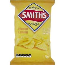 SMITHS  CHEESE AND ONION CRINKLE POTATO CHIPS 90GM  CARTON OF 18