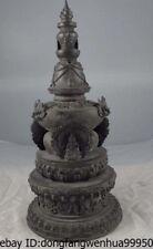 18 Temple Old Copper Bronze Buddhist Sakyamuni Buddha Relic dagoba Tower Pagoda