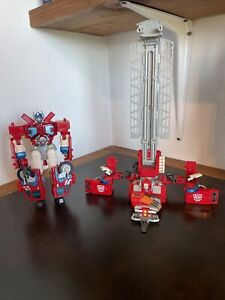 Transformers RID (2001) Optimus Prime/ Car Robots Super Fire Convoy