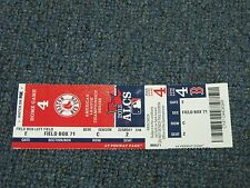 2013 American League Championship Series Game 4 Ticket Boston Red Sox