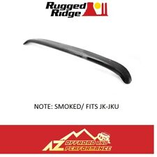 Rugged Ridge Smoked Hood Bug Deflector For 07-18 Jeep Wrangler JK JKU 11350.02