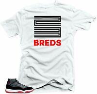 Shirt To Match Jordan 11 Bred 2019 - 23 Breds White Tee