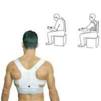 Power Magnetic Posture Humpback Support Corrector Back Brace Belt Magic Strap