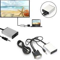 VGA To HDMI Output 1080P HD + USB Audio TV AV HDTV Video Cable ConverterRASk