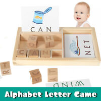 Alphabet Building Block Toys board Puzzle Kid English Early Learning  ]