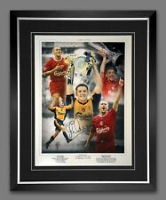 More details for *new* michael owen liverpool signed and framed football 12x16 photograph