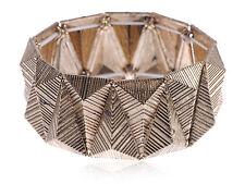 Tribal Three Dimensional Gold Mountain Ancient Cuff Bracelet Punk Bangle Cuff
