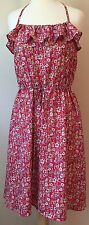 Liberty of London for Target Dress Pink Sun Halter Ruffle Floral Flowing Size M