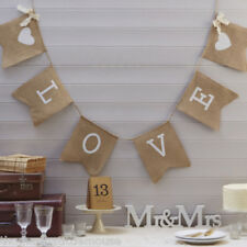 LOVE Hessian Bunting rustic Wedding /  Anniversary / Engagement party decor
