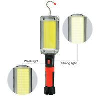 Led Work Light Cob Floodlight 7500LM Rechargeable Lamp Magnetic Light Hook TTT