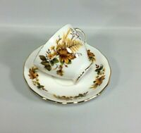 Autumn Leaves Bone China Tea Cup and Saucer Made in England Fall Royal Vale