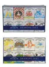 Winsor & Newton William & Henry Drawing Ink Sets Artist Painting 8 x 14ml Set