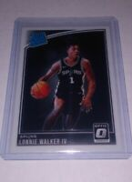 Lonnie Walker IV Spurs 2018-19 Donruss Optic Rated Rookie RC Rookie Card #174