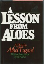 Athol Fugard A Lesson From Aloes Signed Autograph 1st Edition Hard Back Book