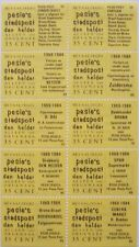 Stadspost Den Helder 1983 - Velletje v 10 betaalzegels met diverse teksten 55-96
