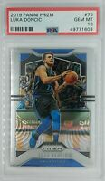 2019-20 Panini Prizm Luka Doncic #75, Dallas Mavericks, Graded PSA 10