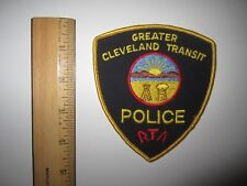 GREATER CLEVELAND TRANSIT POLICE RTA EMBROIDERED PATCH MINT UNUSED