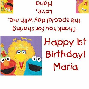 Sesame Street 1st Birthday Candy Bar Wrappers/Birthday Party Favors