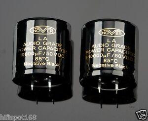 2x 10000uF/50V NOVER Audio Grade Power 85°C capacitor