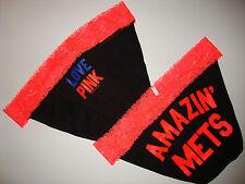 Victoria's Secret panty love pink Amazin' New Yor Mets black lace S