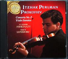 ITZHAK PERLMAN: Prokofiev 2 Violin Sonata Concerto No. 2 Vladimir Ashkenazy CD