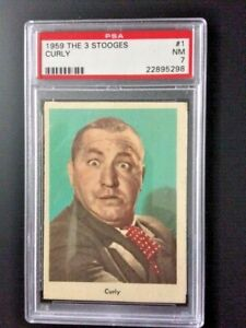 1959 Fleer The Three 3 Stooges Curly Card #' 1 PSA 7 -TOUGH CARD