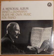 ERNST VON DOHANYI MUSIC FOR PIANO, ETUDES, RHAPSODY; SEALED EVEREST STEREO
