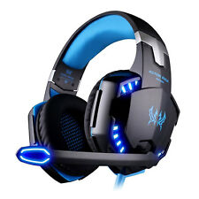 3.5mm Gaming Headset Mic LED Headphones Stereo Surround for PC Laptop PS4 Xbox