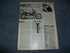 "1985 Honda VT1100 Shadow Vintage Motorcycle Info Article ""Made in America.."""