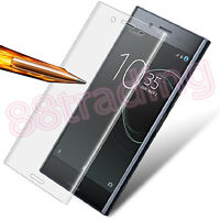 CLEAR CURVED FIT TEMPERED GLASS SCREEN PROTECTOR PROTECTION FOR SONY XPERIA XZ S