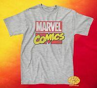 NEW Marvel Comics 90s Logo Classic Vintage Mens T-Shirt