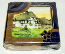 Pimpernel Premier Collection ENGLISH COTTAGES  6 Corked Back Coasters