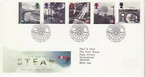GB Stamps First Day Cover The Age of Steam Railways, bridge SHS Train wheel 1994