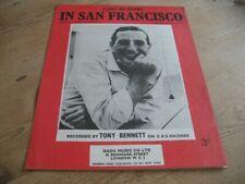VINTAGE SHEET MUSIC TONY BENNETT I LEFT MY HEART IN SAN FRANCISCO
