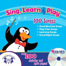 NEW Sing Learn & Play 100 Songs [Audio CD, 4-disc set] Music Toddler Preschool