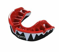 Opro Platinum Fangz Adults Mouth Guard Black Gum Shield Mma Boxing Sports Rugby