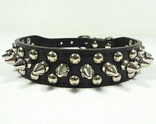 NEW Unisex Leather Rivet Spiked Studded Pet Dog Collars Puppy Necklace XS S M L